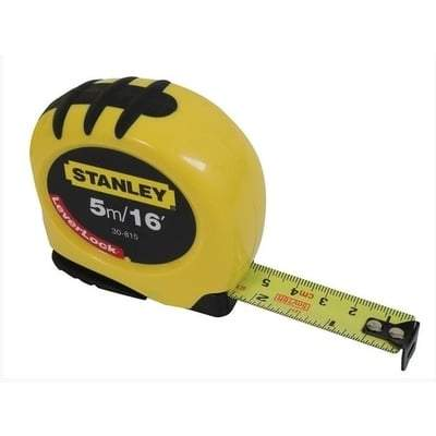 Measuring Tape Yellow - All Sizes 5m Tools and Workwear
