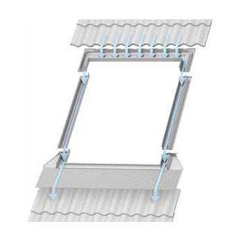 VELUX EDW Single 120mm Tile Flashing - All Sizes Roof Windows