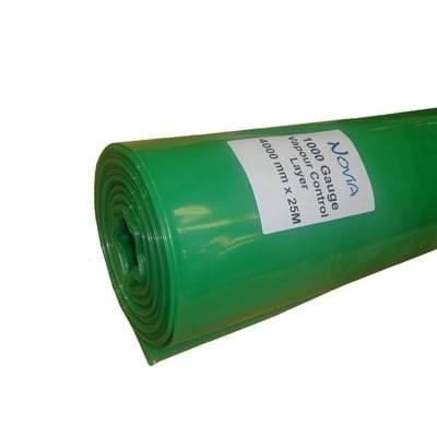 Polythene Vapour Control Layer - All Sizes 500 Gauge (2.7m x 50m) Membranes