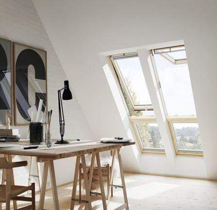 VELUX GGL 2070 White Painted Laminated Centre Pivot Roof Window