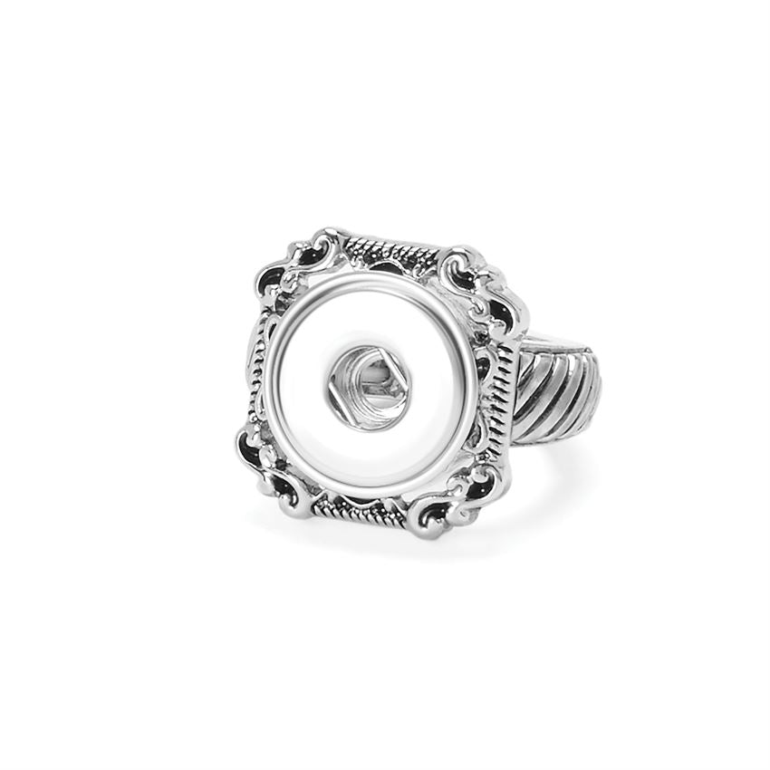 Square Scroll Stretch Ring