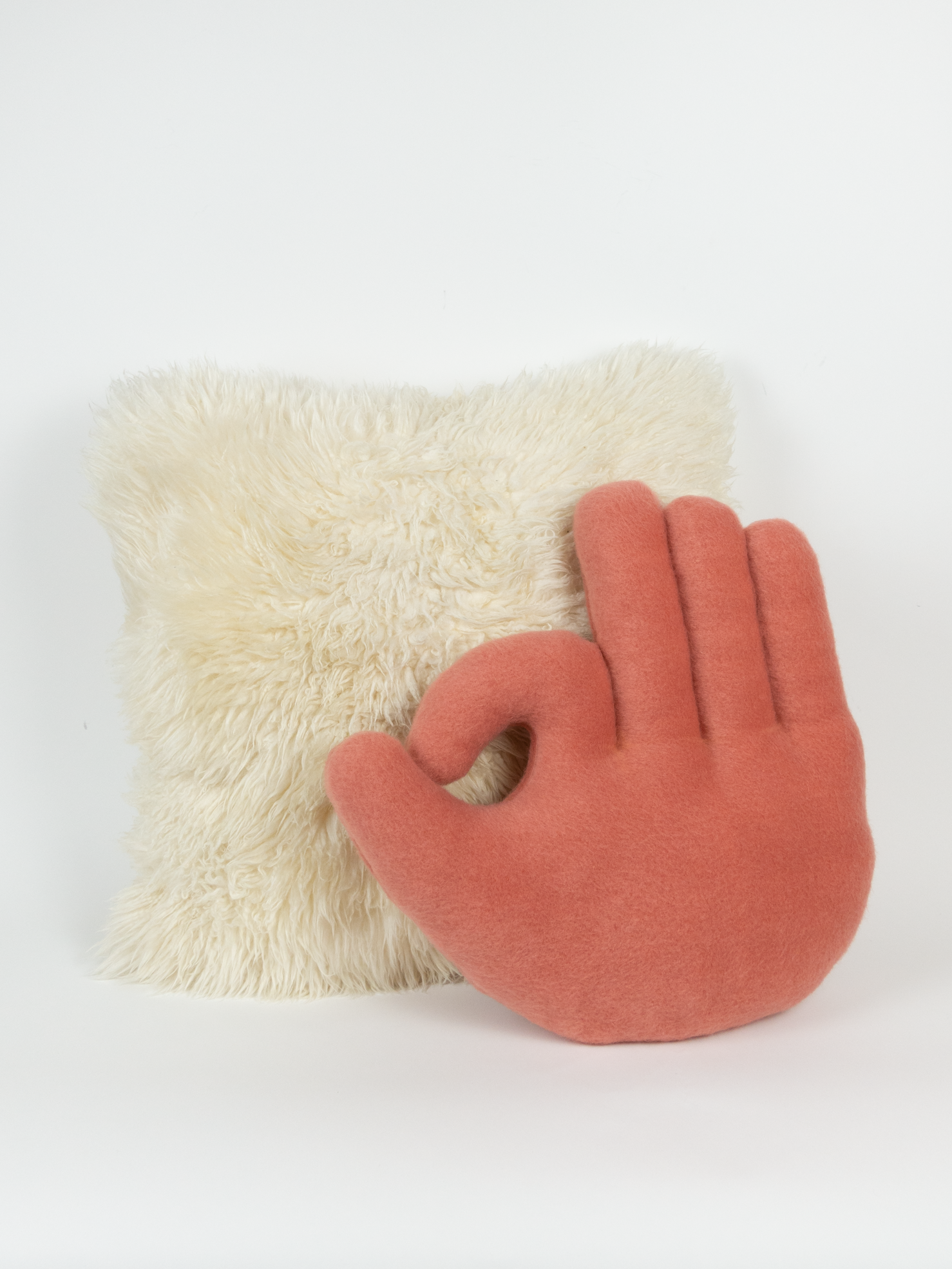 OK Hand Pillow - Coral