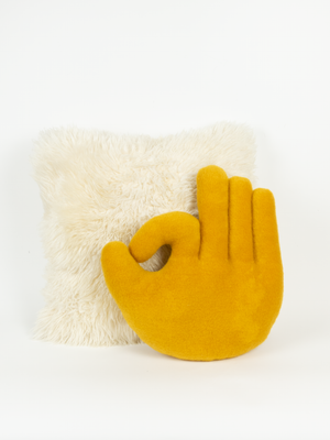OK Hand Pillow - Yellow