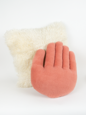 Hand Pillow - Coral