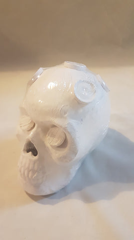 Medium Ceramic Skull - 7 Plugs