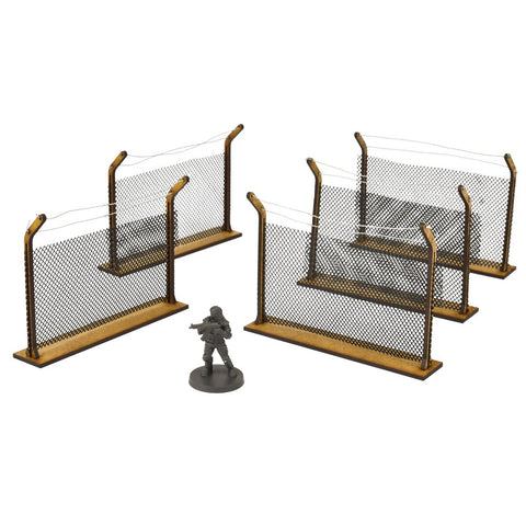 Chain Link Fences - MDF scenery for The Walking Dead and other games