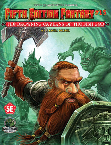 The Drowning Caverns of the Fish God - 5th Edition Fantasy #15 - 5e (with PDF)