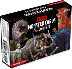 Monster Cards: Challenge 6-16: Dungeons and Dragons 5e 5th Edition
