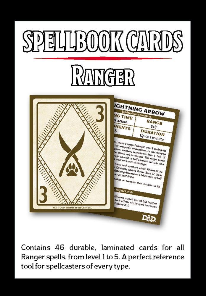 Ranger Spell Deck (revised): Dungeons and Dragons 5e 5th Edition   F