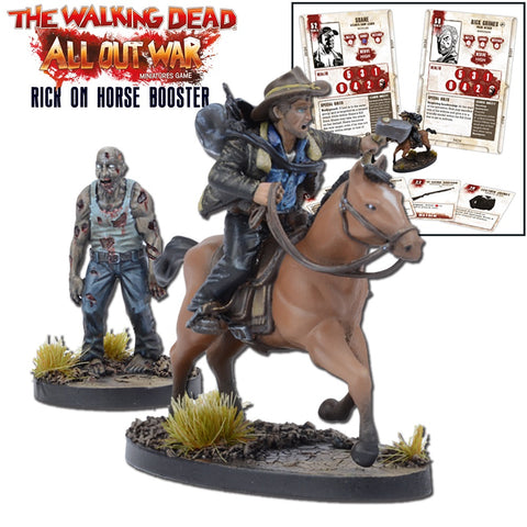 Rick on horseback Booster Pack - Walking Dead