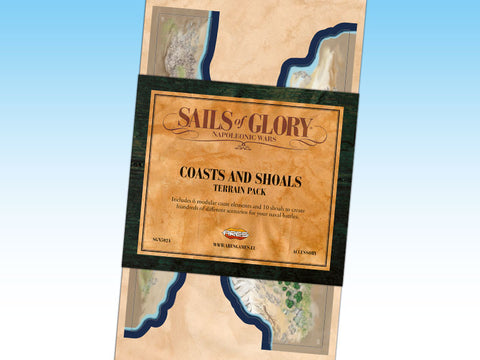 Sails of Glory Terrain Pack - Coasts and Shoals