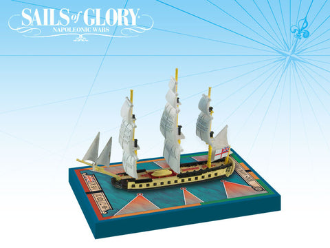 HMS Concorde / HMS Unite - Sails of Glory Miniature Ship Pack