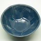 Dast football cup bowl glossy blue and transparent | Dast voetbal beker kom glanzend blauw en transparant - een stip