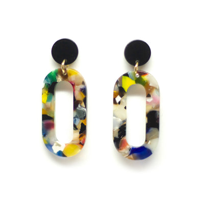 veelkleurige handgemaakte oorbellen handmade dangle earrings