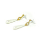 druppel oorbellen teardrop earrings pearl parel gouden