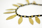 hand-braided brass necklace from India - een stip