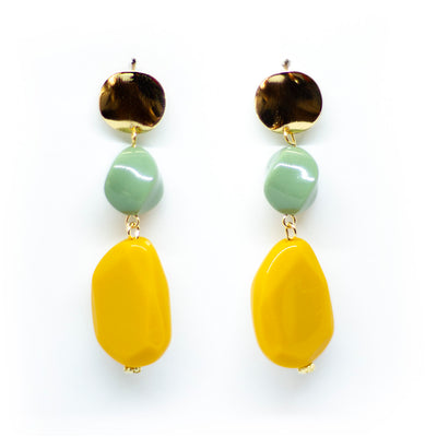 sieraden oorbellen drop earrings yellow earrings