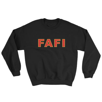 black sweater, fafi logo, rotterdam food