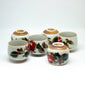 yesterday tea drinking set with hand painted flowers - een stip