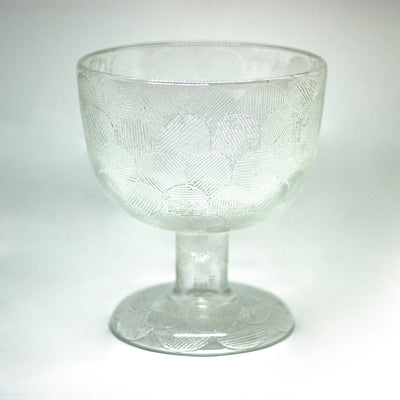 yesterday large glass vase bowl - een stip