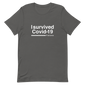 I survived coronavirus, sarcastic quotes, funny t-shirts