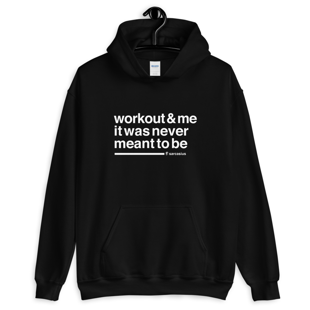 workout quotes, curvy, workout hoodie, gift for lazy people