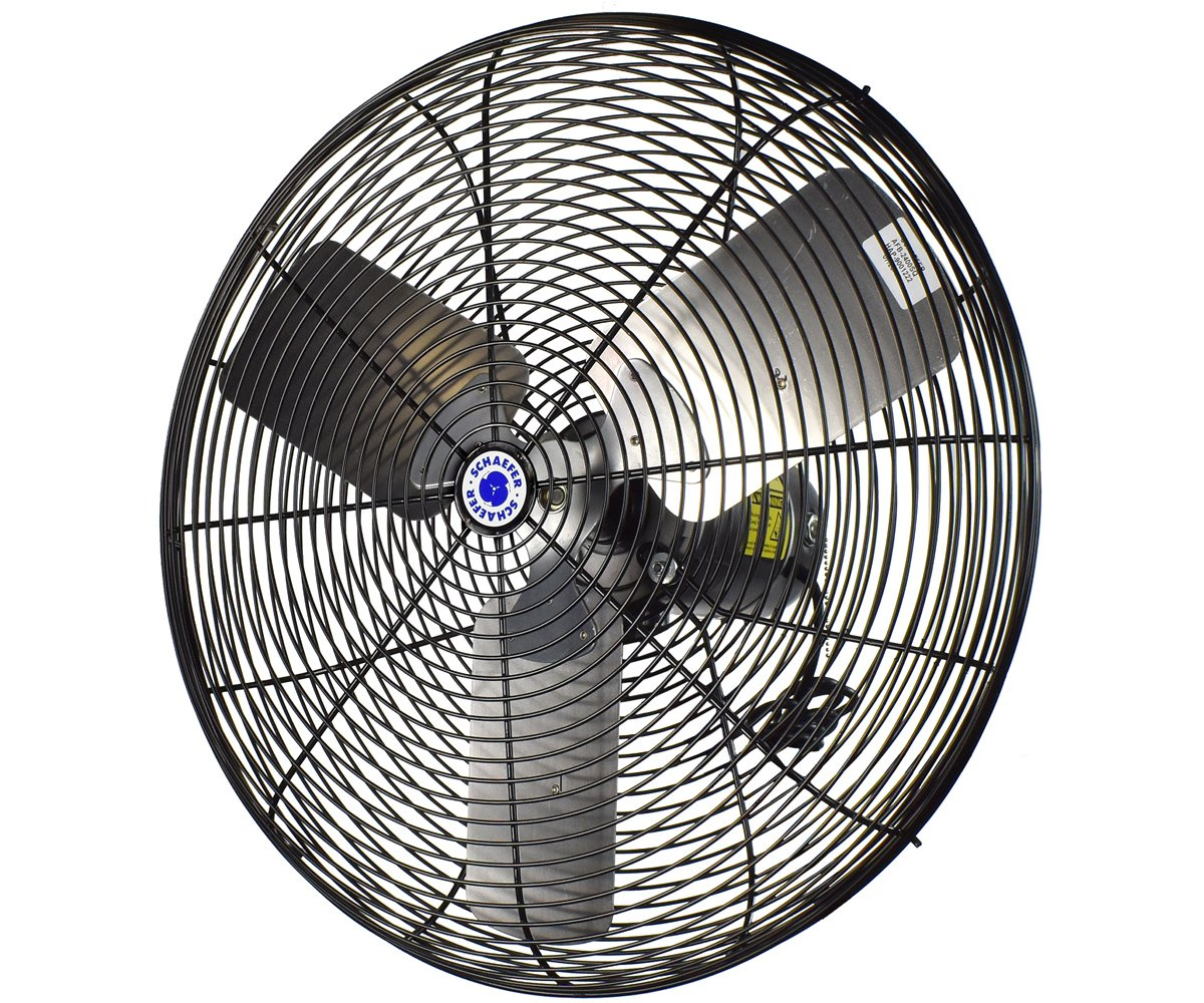 "20"" Oscillating Circulation Fan, Black OSHA Guards"