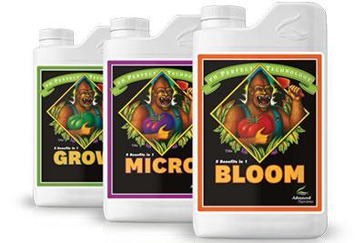 Advanced Nutrients pH Perfect Trio (Grow,Micro,& Bloom)-Nutrients & Additives-Midwest Grow Co