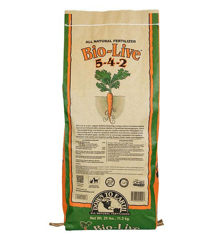Down to Earth Bio-Live™ 5-4-2 25lb-Nutrients & Additives-Midwest Grow Co