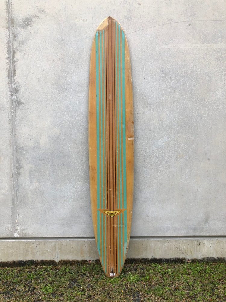 VINTAGE LOG 10 CUSTOM BLUE DECK STRIPE BLUE FIN
