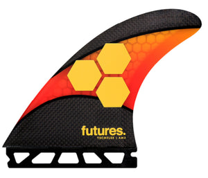 FUTURES AM2 TECHFLEX THRUSTER ORANGE RED