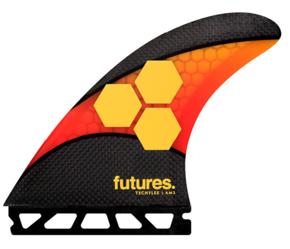 Load image into Gallery viewer, FUTURES AM2 TECHFLEX 5-FIN ORANGE RED