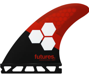 FUTURES AM3 HC RED TRI FIN SET PACKAGED