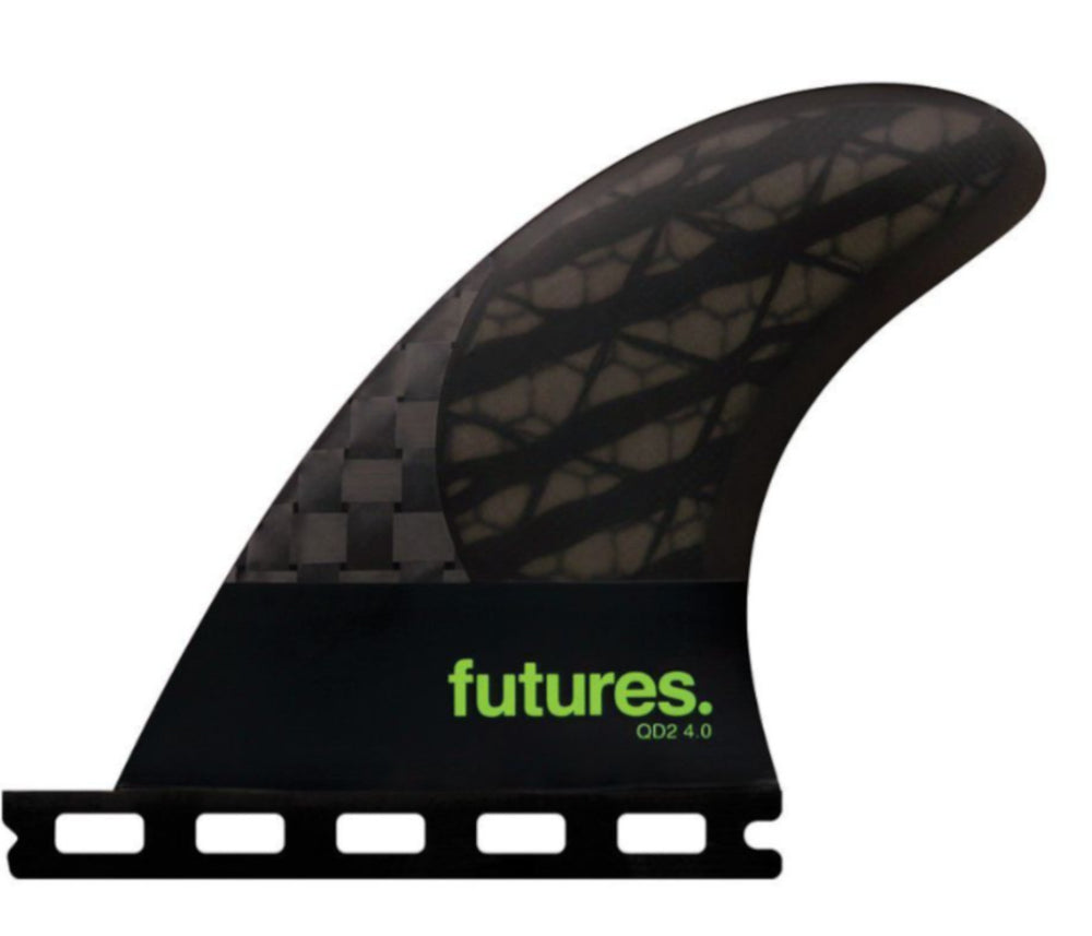 Load image into Gallery viewer, FUTURES QD2 4.0 BLACKSTIX 3.O QUAD REAR FIN PAIR