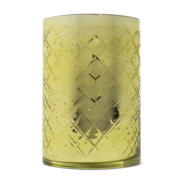 Fete Home - Tall Green Etched Vase
