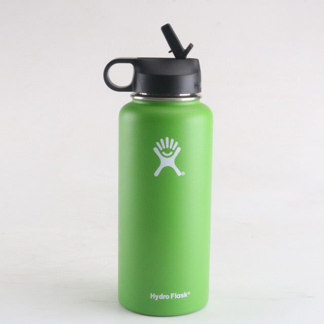 hydro flask 18oz/32oz/40oz Tumbler Flask Vacuum Insulated Flask Stainless Steel Water Bottle Wide Mouth Outdoors Sports Bottle - Palcost