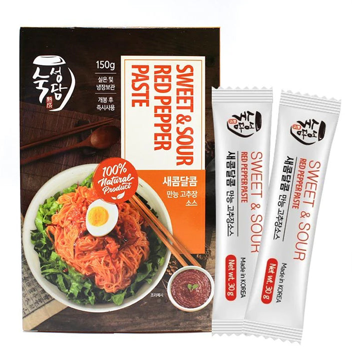 Sweet & Sour Red Pepper Paste (Flavor Packets) 30g (5 per Box at 1 Box)