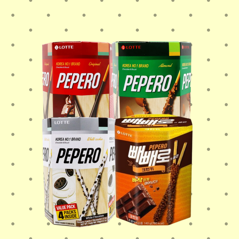 LOTTE Pepero Multi Value Pack - (Total 18 packs)