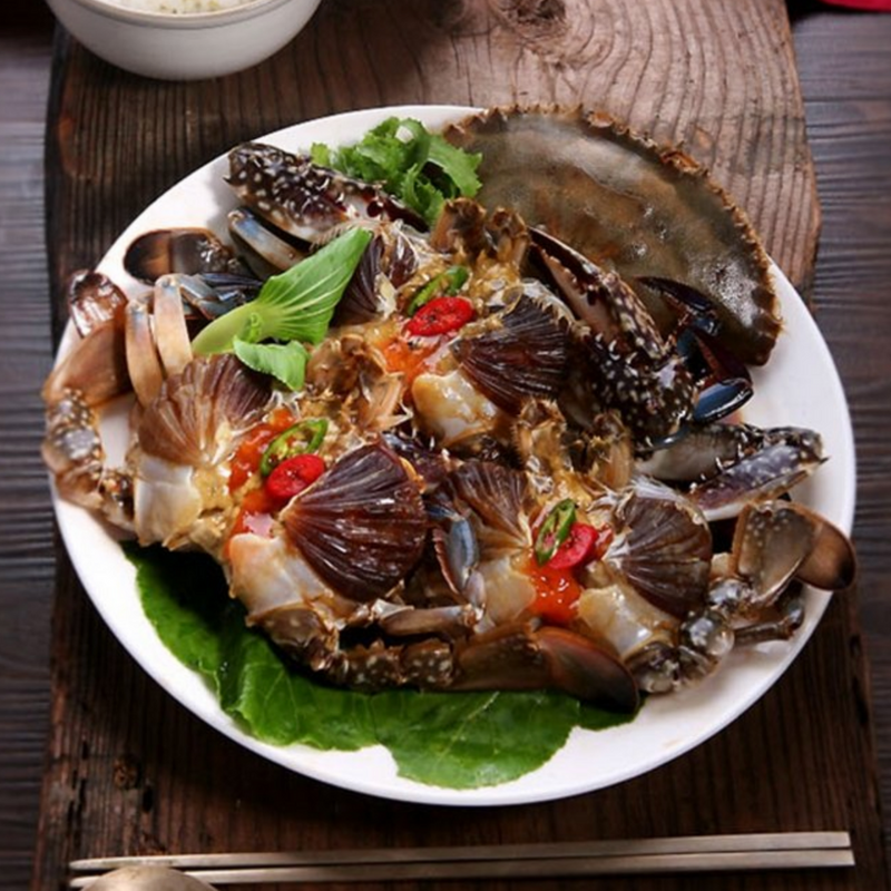 [FREE SEPARATE SHIPPING] Korean Soy Sauce Marinated Crab (Ganjang-Gejang) 3.2kg (4 whole crabs)