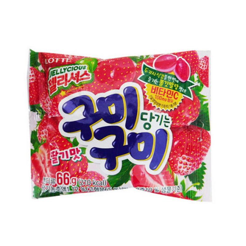 Lotte Gummy Gummy Strawberry  (3 bags per order)