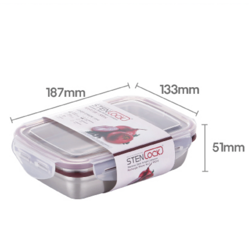 [Stenlock Classic] Stainless Steel Airtight Container #5 560ml