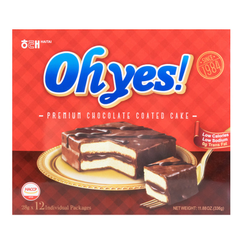 Haitai Oh Yes! Premium Chocolate Coated Cake Multipack (12 Packs per Box)