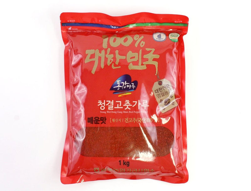 Seoul Mills presents Donggang Maru Spicy Red Pepper Powder 1kg.