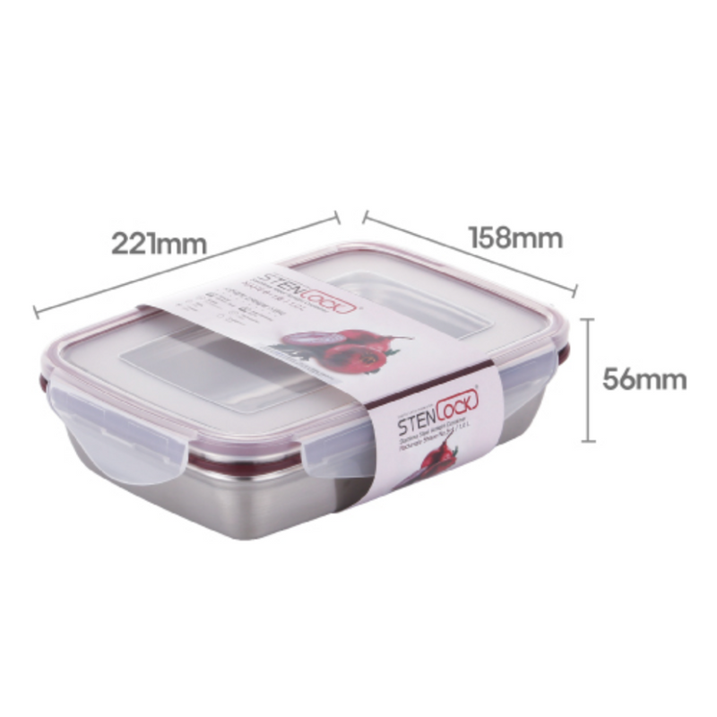 [Stenlock Classic] Stainless Steel Airtight Wide Container #6-1 1.0 L