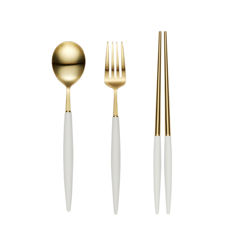 [BOGEN] EIFFEL Gold Kid Silverware Set in a Bag