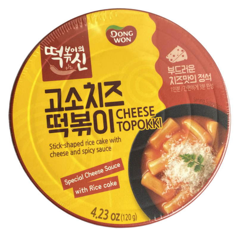 Dongwon Cheese Tteokbokki Bowl Multipack (4 Packs per Order)
