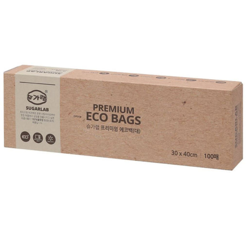 Sugarlab Eco Bag (Large) 100 sheets (3 Cases per Box)