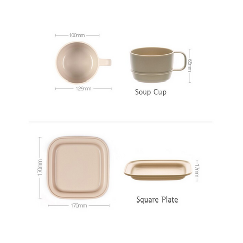 [NINEWARE] Ordinary Dining Set (4 Piece)