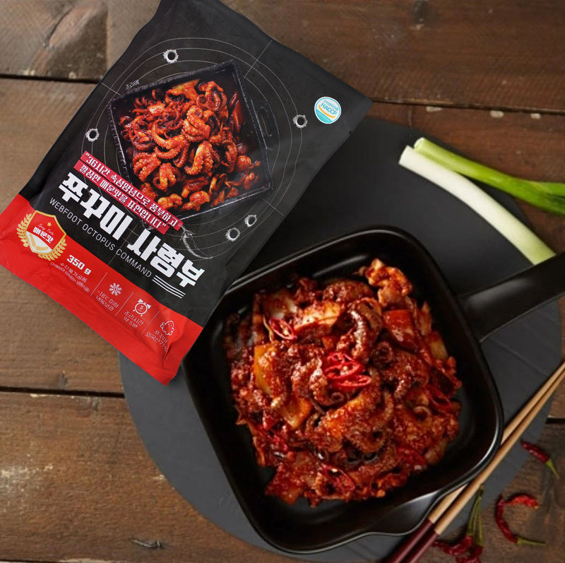 Try the Happy Table Spicy Baby Octopus Stir-Fry Mix at Seoul Mills!
