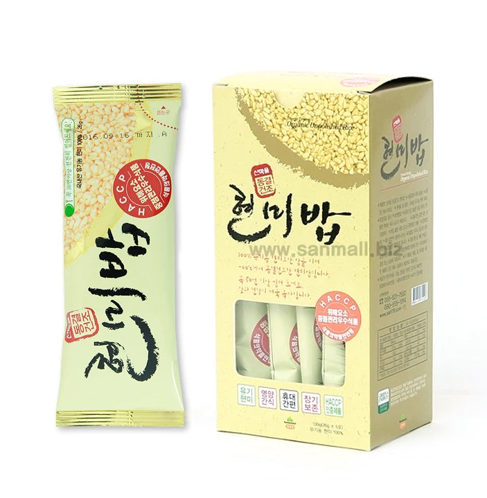 Donggaljin 100% Organic Brown Rice 26g (5 Packs per Box)